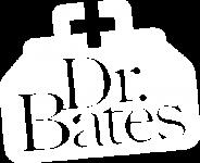 Dr. Bates Logo | White